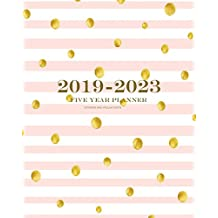 2019-2023 Stripes and Polka Dots Five Year Planner: 60 Months Planner and Calendar,Monthly Calendar Planner, Agenda Planner and Schedule Organizer, Journal Planner and Logbook, Appointment Notebook, Academic Student Planner for the next five years (5 year calendar/5 year diary/8 x 10)