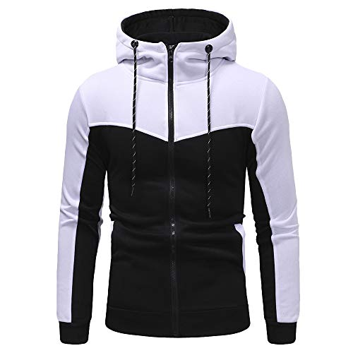 WOCACHI Final Clear Out Mens Tracksuit 2 Piece Sets Patchwork Sweatshirt Tops Pants Hooded Sports Suit Hoodies Jackets Sweatpants Pullover Autumn Winter Long Sleeve Warm (Jacket Cashmere Track)