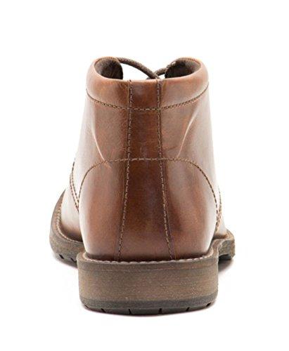 Ruban Rouge bexton Marron pour homme à lacets en cuir cheville Bottes UK 7–12