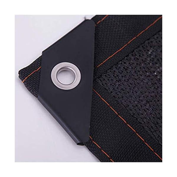 Giow - Telo protettivo per protezione solare in polietilene nero, 24 misure (colore: nero, dimensioni: 6 x 6 m) 4 spesavip