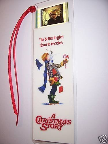 CHRISTMAS STORY Ralphie movie film cell bookmark memorabilia collectible