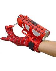 Aranha - Lançador de teia - Brinquedo de pulso de super-herói Realmente atira teias Homem Aranha Brinquedo de cosplay infantil para meninos Presente