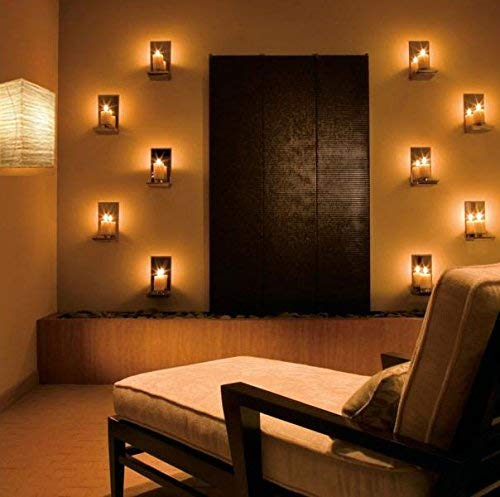 Wallniture Asian Wall Lamp with Toggle Switch Handmade Rice Paper Cream 2 25 Watt Chandelier Bulb Included by Wallniture (Image #3)
