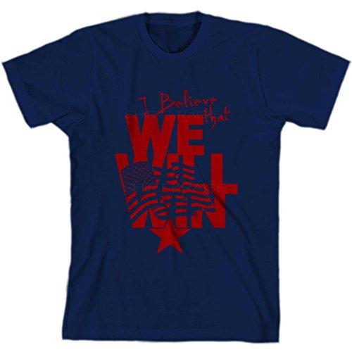 I believe that we will win USA Soccer Mens Jersey USMNT TOP By Shirt Kraise,Medium