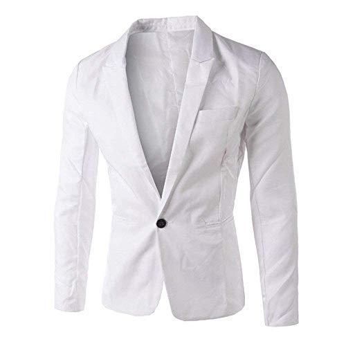 Moderne Blancs Fit Hommes Un Costume Et Mode Décontracté Slim Bouton Veste Hauts Pour 7Rqwc1xnI