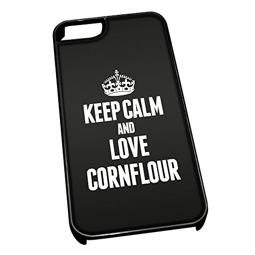 Nero cover per iPhone 5/5S 0994 nero Keep Calm and Love Cornflour