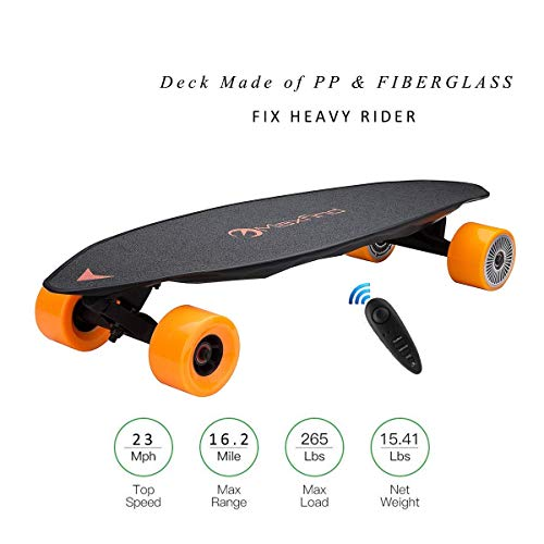 Maxfind Electric Skateboard,Max Range 16 Miles,Top Speed 23 MPH,Dual Motor 1200W,Update Remote Controller,4th Generation (Max2)