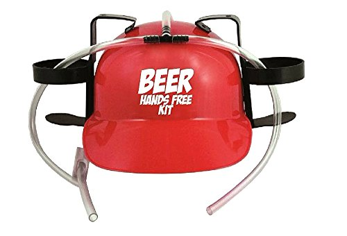[Beer Hands Free Kit Drinking Hat] (Drinking Hats With Straws)