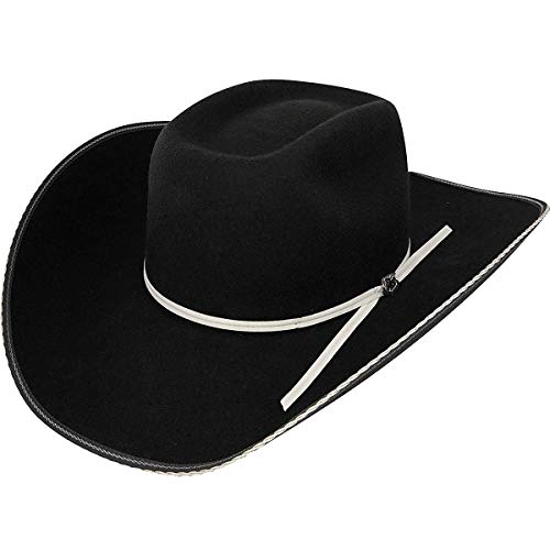 - Resistol Men's Snake Eyes Wool Cowboy Hat Black 7 3/8
