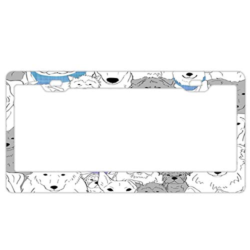 - Hopes's Stainless Steel Car Licence Plate Covers Waterproof Hippie Auto License Plate Frame for Men & Women - Menagerie of Marvelous Mutts