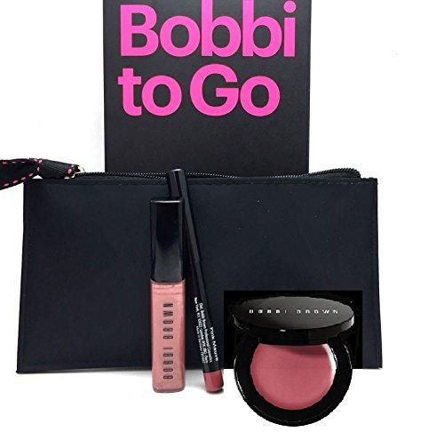 Bobbi To Go Bobbi Brown 4 Piece Lip Gloss, Rouge Pot, Lip Li