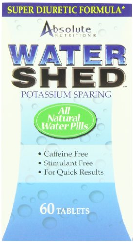 Potassium Sparing Diuretic (Absolute Nutrition Potassium Sparing Water Shed,  60 Tablets (Pack of)