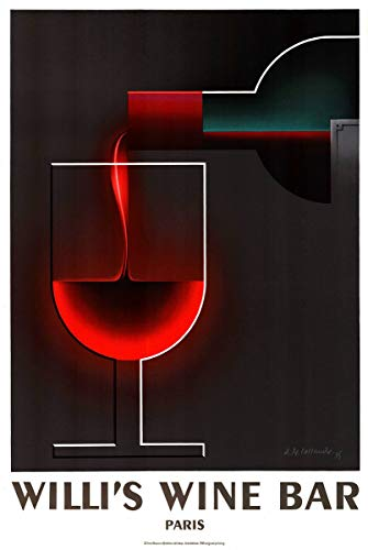 historic pictoric Willis Wine Bar Paris Cassandre 1935 | 24in x 16in Vintage French Poster Print