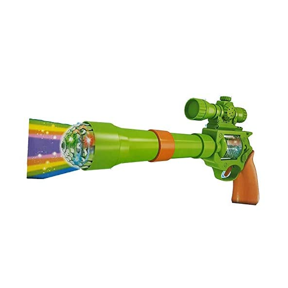 Brand Conquer Brand Conquer Elegant Strike Gun Toy with 3D Projection Lights and Music, 12-inch (Multicolour)