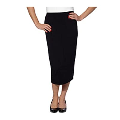 Matty M Ladies' Midi Skirt-Black, Medium at Women's Clothing store