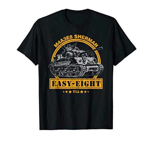 (M4A3E8 Sherman Tank T-Shirt)