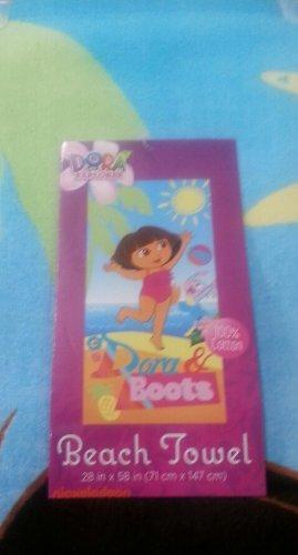 Dora la Exploradora y botas el mono toalla de playa toalla de baño 71,12 cm w X 147,32 cm l: Amazon.es: Hogar
