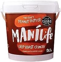 ManiLife Erdnussbutter - Peanut Butter - Alles Natürlich, ein Anbaugebiet, ohne Zuckerzusatz, ohne Palmöl – Deep Roast...