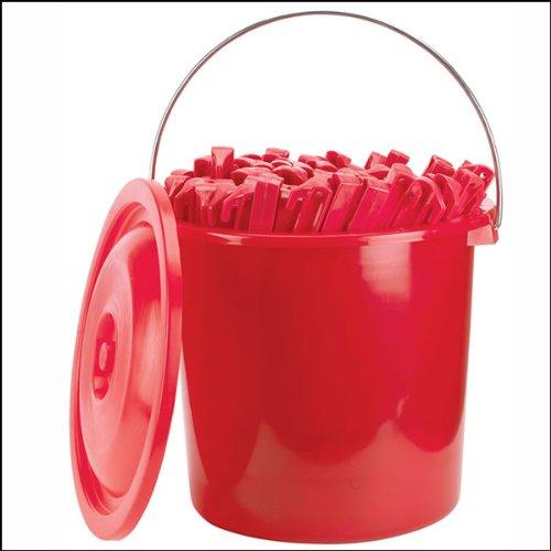 Stansport 816-100-STA 816-100 Plastic Tent Stakes (100 Pieceper Bucket), 9