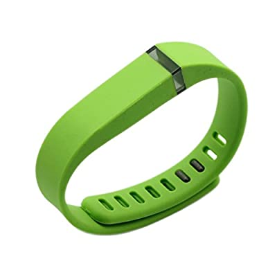 Best_Express Set 1pc Small S Replacement Band with Clasp for Fitbit FLEX Only /No tracker/ Wireless Activity Bracelet Sport Wristband Fit Bit Flex Bracelet Sport Arm Band Armband (Lime Green)