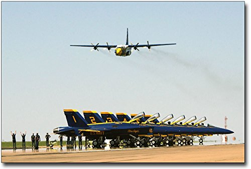 Blue Angels C-130 Hercules Transport 'Fat Albert' 16x24 Silver Halide Photo Print