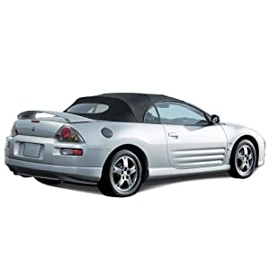 mitsubishi eclipse spyder convertible top 2000 2005 in cabrio grain vinyl with heated glass window black