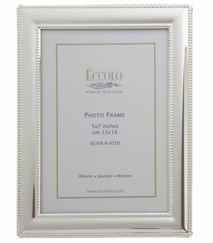 Eccolo Smooth Beaded Silver Plated Frame, 4 by 6-Inch (SP315) by Eccolo