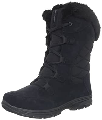 Columbia Women's Ice Maiden Lace Winter Boot,Black/Columbia Grey,10 M US