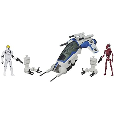 Star Wars 501st Legion Attack Dropship Vehicle with Clone Pilot and Battle Droid Figures