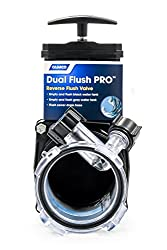 Camco Dual Flush Pro Holding Tank Rinser With Gate Valve- Thoroughly Cleans Entire Septic System & Breaks Down Tough Clogs In Pipes (39062)