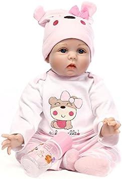 NPKDOLL Reborn Baby Reborn Bambola molle del bambino di simulazione del silicone vinile 22 pollici 55 centimetri magnetica Bocca realistica sveglia