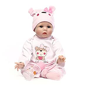 hair rooted realistic reborn baby dolls soft