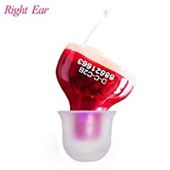 Size:Right Ear   Color:RedWhat's in the box: -- 1* DEVICE -- 3* Sizes of Closed Ear Domes (S,M,L) -- User Instruction Manual - 1 A10 Battery  - 1 Cleaning Brush(Also be used to control the volume)