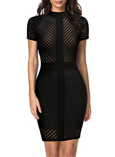 REPHYLLIS Women's Vintage Sexy Clubwear Night Cocktail Party Dress XXL Black