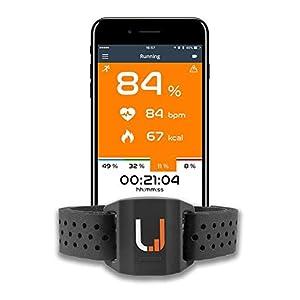 41pFme36DoL. SS300 UPTIVO Armband - Cardiofrequenzimetro da Braccio con Doppia Trasmissione Bluetooth Smart, Ant+. Compatibile con iPhone…