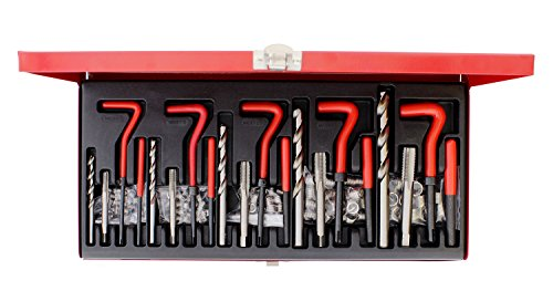 ABN 131-Piece Metric Thread Repair Set - Damaged Helicoil-Type Thread Master Repair Kit for Automotive Repairs