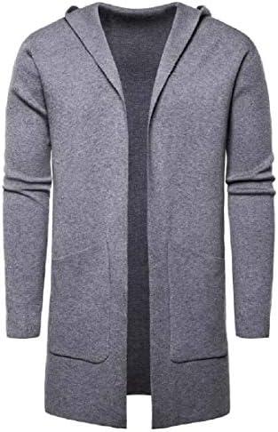 hower Men`s Long Cardigan Sweater Hooded Knit Slim Fit Open Front Longline CardigansPockets / hower Men`s Long Cardigan Sweater Hooded Knit Slim Fit Open Front Longline CardigansPockets