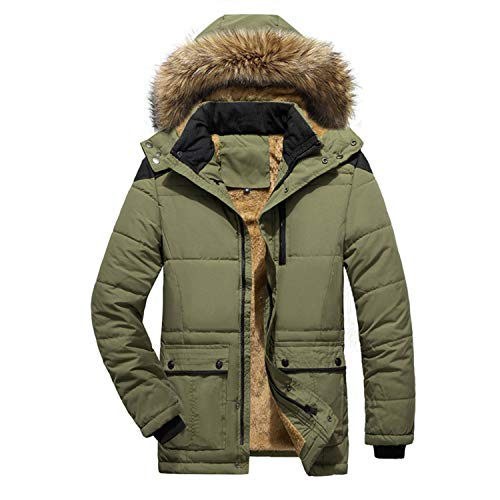 Men's Winter Coats Down Jackets Outerwear Long Cotton Coat Men Thick Warm Fur Jacket Coat OvercoatTops