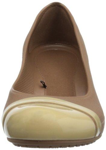 Cap Femme Marron bronze Toe gold Sandales Crocs gqFwdaPd