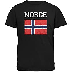 World Cup Distressed Flag Norge Adult T-Shirt