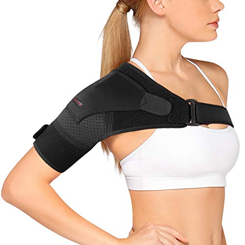 Shoulder Brace by SYOSIN -[2019 Version] Rotator Cuff Support for Injury Prevention, Dislocated AC Joint, Tendonitis and Fracture - Shoulder Compression Sleeve with Pressure Pad for Men & Women