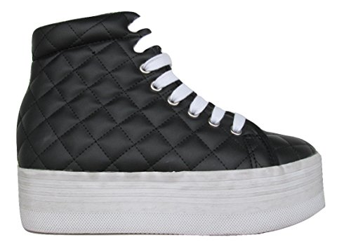 JC PLAY BY JEFFREY CAMPBELL HOMG QUILTED LEA WASH BLACK-WHITE (39)