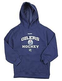 Edmonton Oilers NHL Reebok Big Boys Blue Fleece Pullover Hoodie