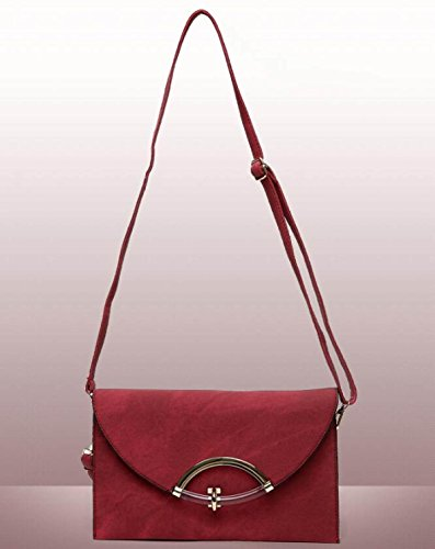 Strap Red With Wrist Bag Clutch Women's Bag Bag Large Elegant Shoulder Capacity Envelope Messenger BqxT1wO7
