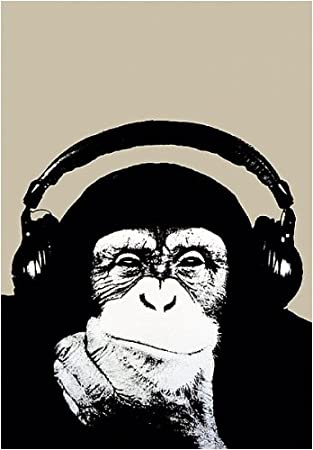 Amazon.com: Steez (Headphone Chimp) Art Poster Print - 24x36 ...