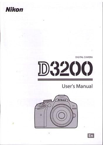 nikon d3200 user s manual nikon amazon com books rh amazon com user manual nikon d3100 operating manual nikon d3200