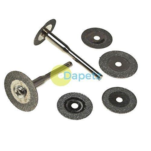 Dapetz ® 6Pc Diamond Cutting Disc Set For Rotary Tool, Mini & Dremel Drills