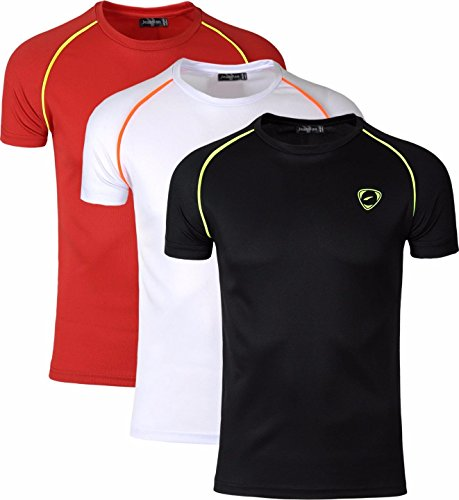 3 White Sleeves Tee Lsl182 Jeansian Sport Homme T Slim shirt Sportswear Packs Short Red Dry Quick Lsl182 packm Black Compression wqqEHA