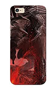 Summerlemond Durable Defender Case For Iphone 6 Plus Tpu Cover(wolfjawsteethhornsarmormountainslavalightning ) Best Gift Choice