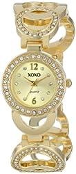 XOXO Women's XO5668 Analog Display Quartz Gold Watch
